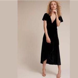 Anthropologie BHLDN SZ XL Thrive Velvet Wrap Dress